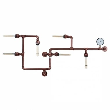 Industrial Pipework Art Light - Copper