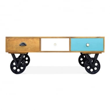 Jasmine Coffee Table With Wheels