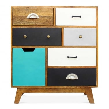 Jasmine Multi-Coloured Chest of Drawers - Small