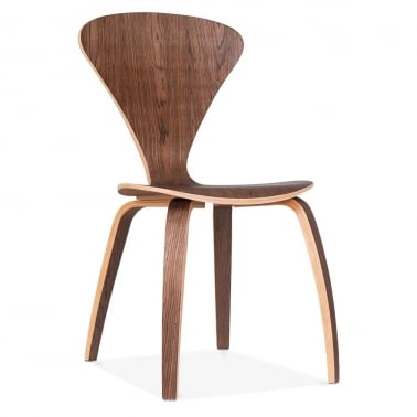 Chair With Veneer Finish - Walnut