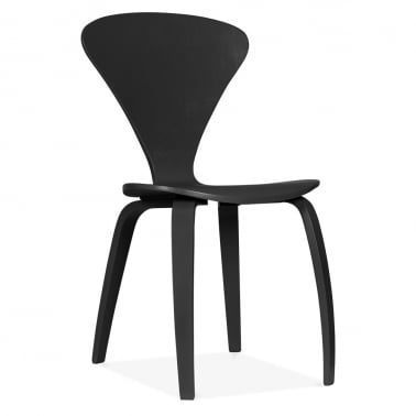 Chair With Veneer Finish - Black