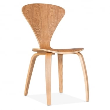 Chair With Veneer Finish - Natural
