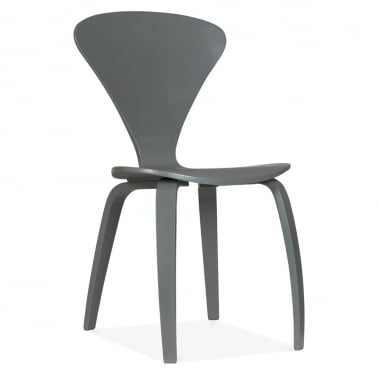 Chair With Veneer Finish - Grey