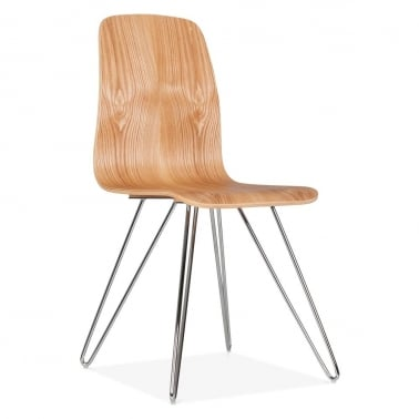 Björn Dining Chair With Hairpin Legs - Natural