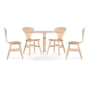 Cherner Dining Set - 1 Table & 4 Chairs - Natural