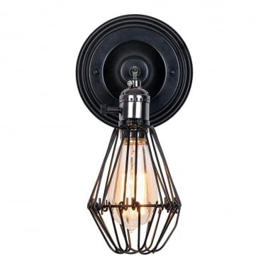Locke Antique Cage Wall Light