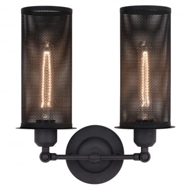 Perforated Metal Double Sconce Wall Light