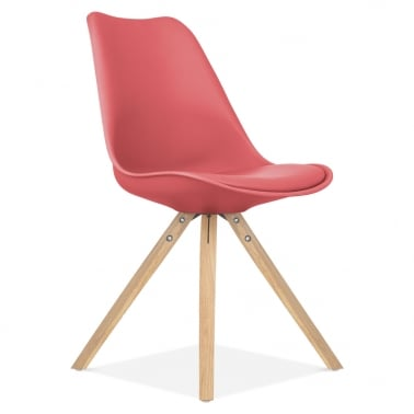 Watermelon Dining Chair with Pyramid Style Solid Oak Wood Legs