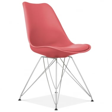 Watermelon Dining Chair with Eiffel Metal Legs