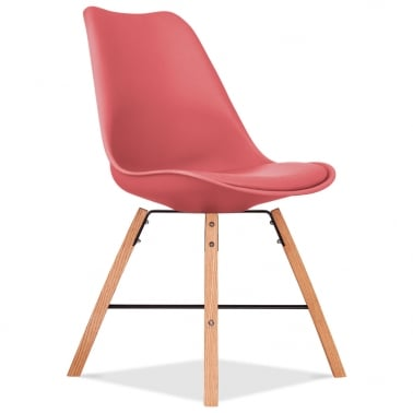 Soft Pad Dining Chair With Cross Brace Legs - Watermelon