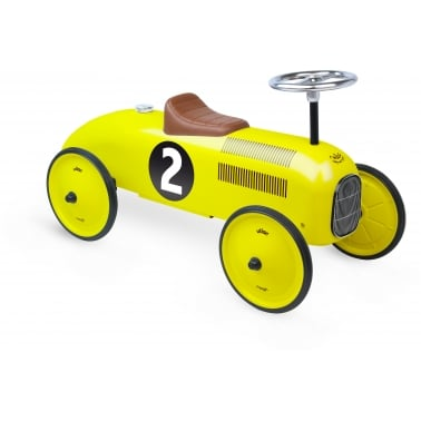 Ride On Metal Racing Car - Yellow