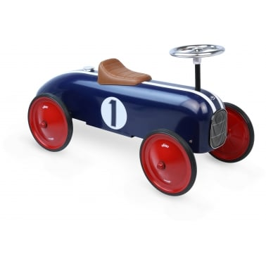 Ride On Metal Racing Car - Blue