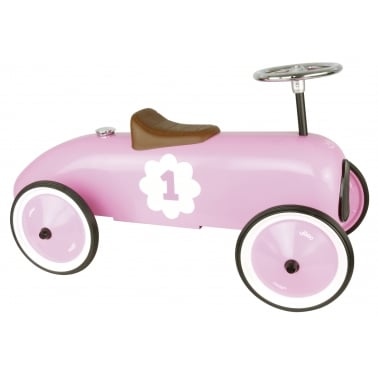 Ride On Metal Racing Car - Pink