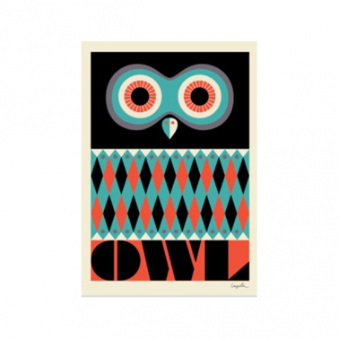 Ingela P Arrhenius Owl Print - Multicoloured