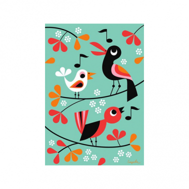 Ingela P Arrhenius Three Little Birds Poster Print