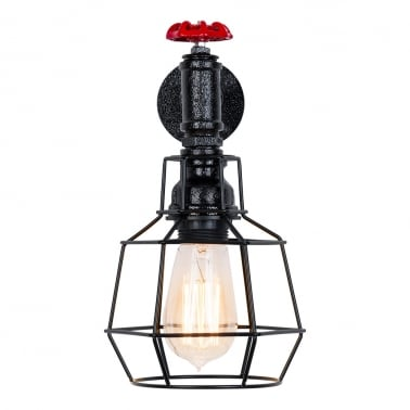 Morse Industrial Tap Wall Light - 1 Cage