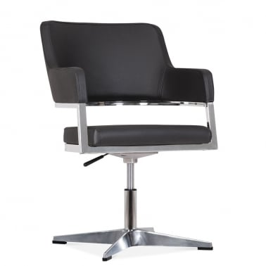 Skyline Chair With Aluminium Leg - Black