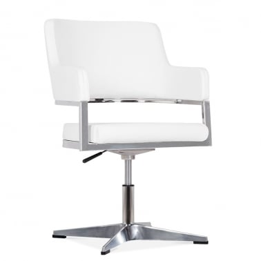 Skyline Chair With Aluminium Leg - White