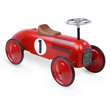 Ride On Metal Racing Car - Red