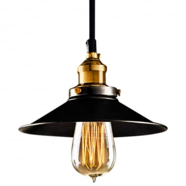 Industrial Black Metal Pendant Light