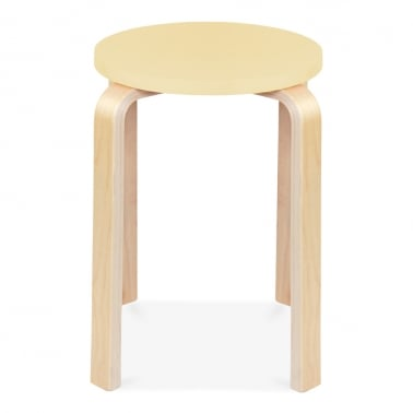 Bella Short Stool - Lemon 45cm