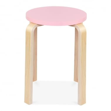 Bella Short Stool - Pink 45cm