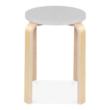 Bella Short Stool - Light Grey 45cm
