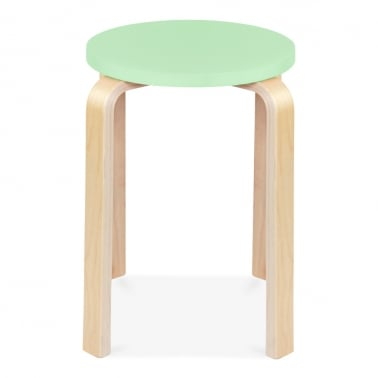 Bella Short Stool - Pastel Green 45cm