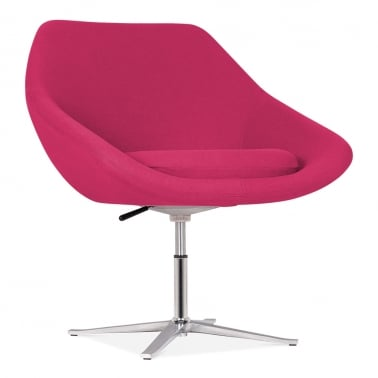 Melody Lounge Chair With Aluminium Leg - Hot Pink
