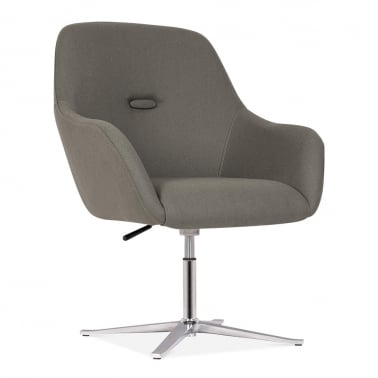Hendrix Chair With Aluminium Leg - Grey