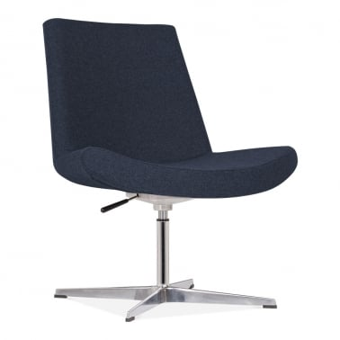 Mod Lounge Chair With Aluminium Leg - Dark Blue