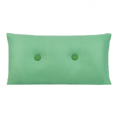 Poet Cushion With Double Button - Peppermint with Dark Green Button
