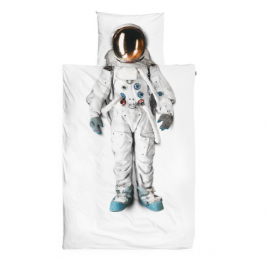 Astronaut Duvet Set single & double - White