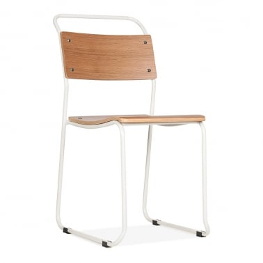 Bauhaus Stackable Chair - White