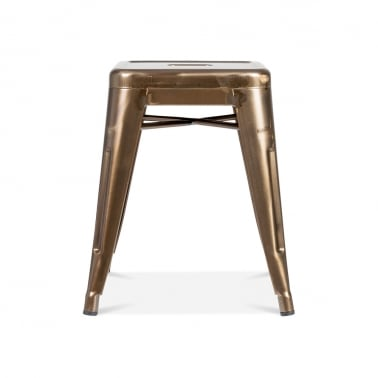 Tolix Style Industrial Stool - Raw Bronze 45cm