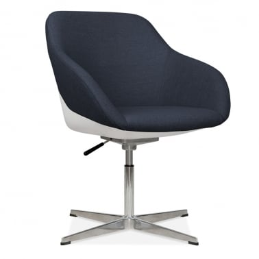 Monza Lounge Chair With Aluminium Leg - Dark Blue