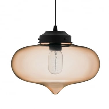 Minaret Modern Glass Pendant Light - Coffee