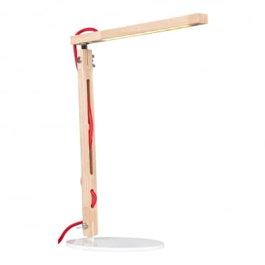 Modish LED-Strip Wood Desk Lamp - Two Arms - Seconds Clearance Stock
