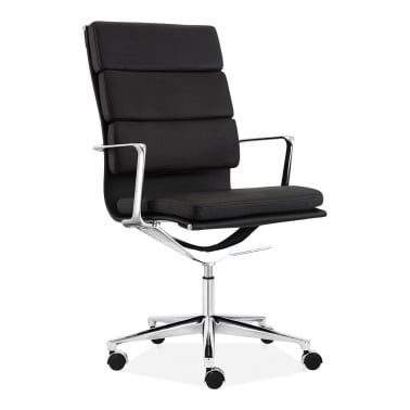 soft pad office chair with high back u2013 black