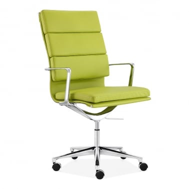Soft Pad Office Chair with High Back – Apple Green