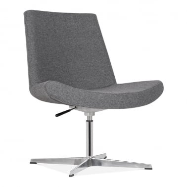 Mod Lounge Chair With Aluminium Leg - Grey