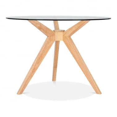 Vallentuna Glass Dining Table - Natural 107cm