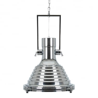 Workshop Industrial Pendant Light - Chrome