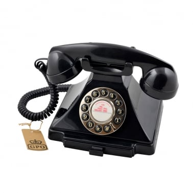 Carrington Classic Retro Telephone - Black