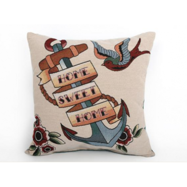 Tattoo Anchor Cushion - Multi Coloured