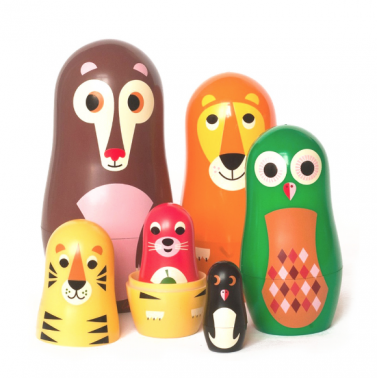 Nesting Animal Family Jungle - Multi Coloured