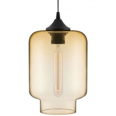 Edison Industrial Mercury Modern Pendant Light - Amber