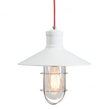Harbour Caged Pendant Light - White