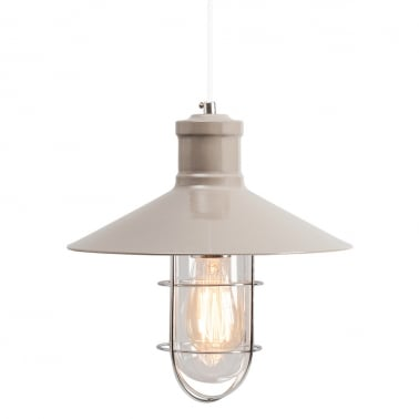 Harbour Caged Pendant Light - Light Grey