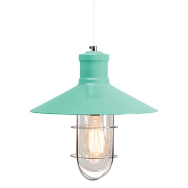 Harbour Caged Pendant Light - Peppermint